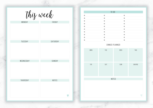 weekly planner colorata