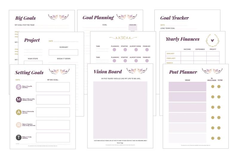 Conosciuto 2 blogging planner da stampare per organizzare il blog OX55