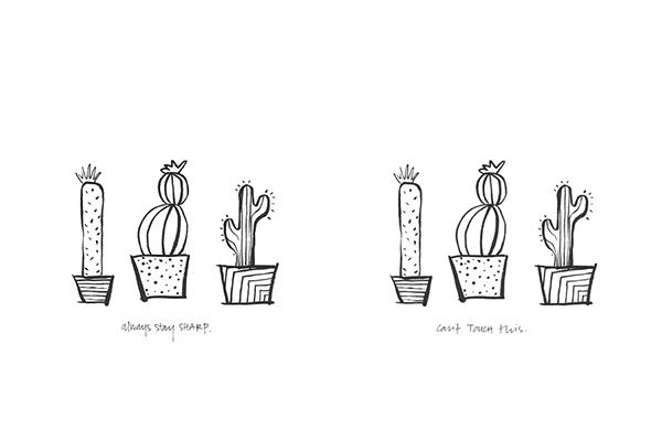stampa cactus minimal