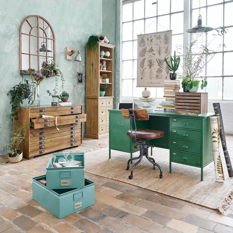 5 siti in cui acquistare dei bellissimi contenitori per la for Scrivania maison du monde