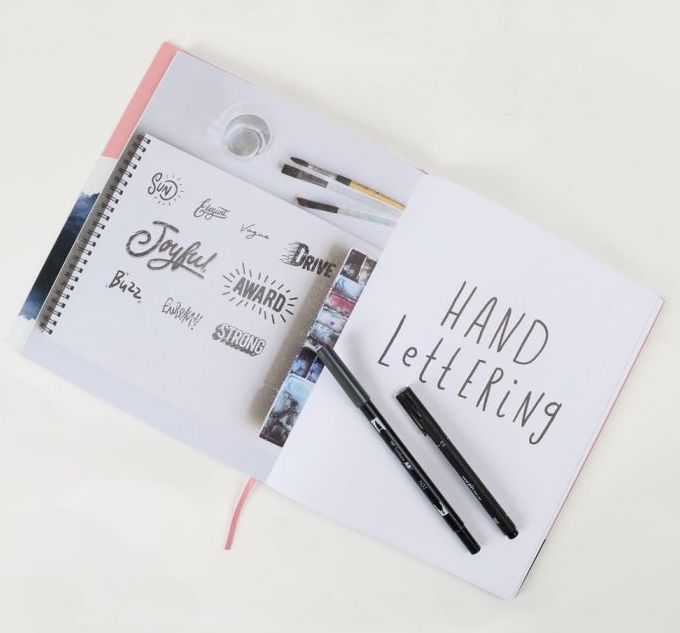 hand lettering paperchase