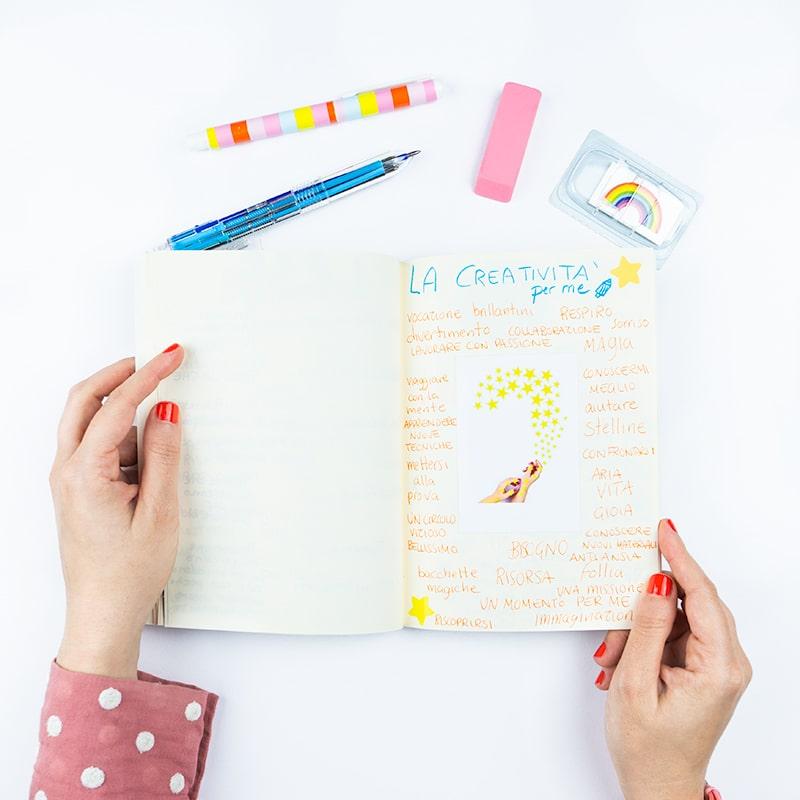 quaderno esercizi creativi creatività