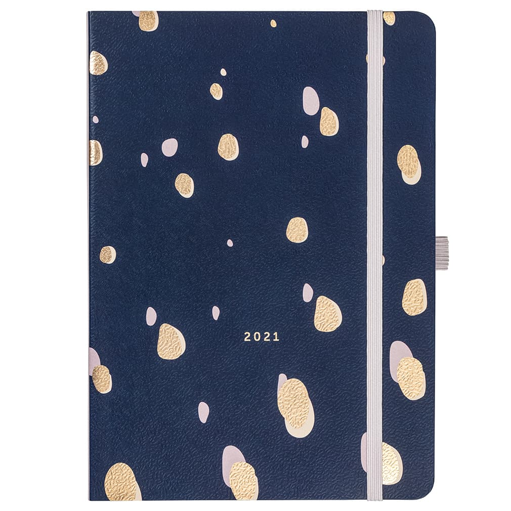 Busy B Day a page diary 2021 Navy spot copertina